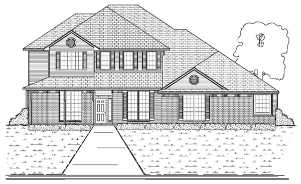 Traditional House Plan 87929 Elevation