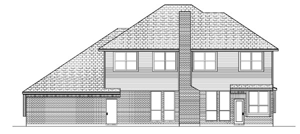Traditional House Plan 87929 Rear Elevation