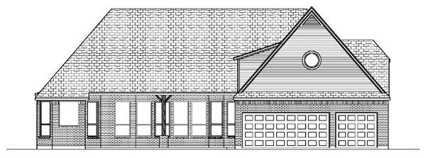 European House Plan 87931 Rear Elevation