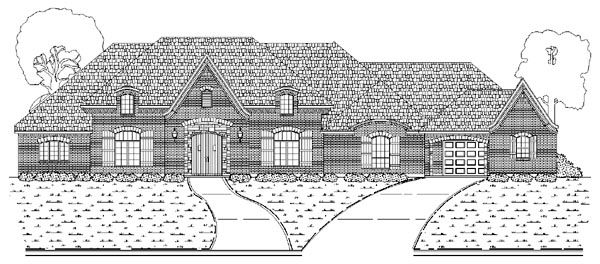 European House Plan 87935 Elevation