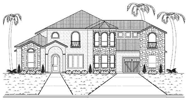 Mediterranean House Plan 87936 with 5 Beds, 5 Baths, 3 Car Garage Elevation