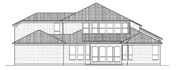 Mediterranean House Plan 87936 Rear Elevation