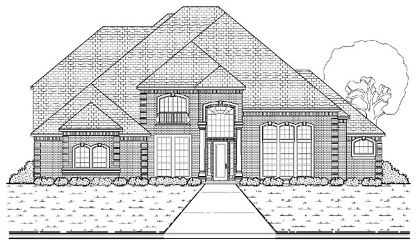 European House Plan 87937 with 4 Beds, 4 Baths, 3 Car Garage Elevation