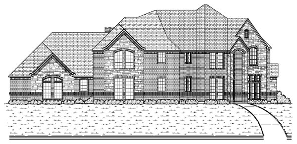 European House Plan 87938 with 5 Beds, 4 Baths, 3 Car Garage Elevation
