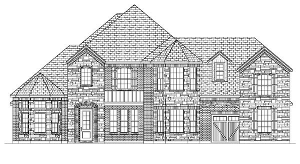 European House Plan 87939 Elevation