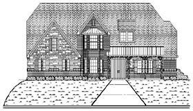 European House Plan 87940 Elevation