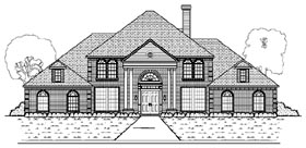 Colonial , European House Plan 87942 with 6 Beds, 5 Baths, 4 Car Garage Elevation