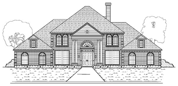 Colonial European House Plan 87942 Elevation