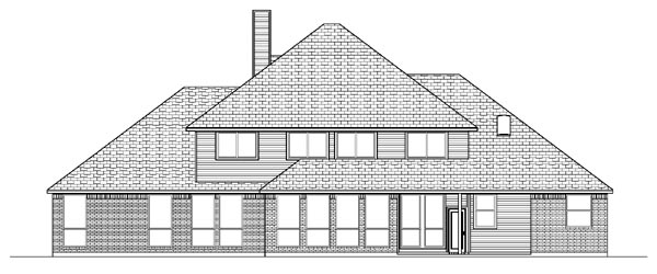 Colonial European House Plan 87942 Rear Elevation