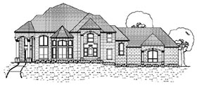 European House Plan 87943 Elevation