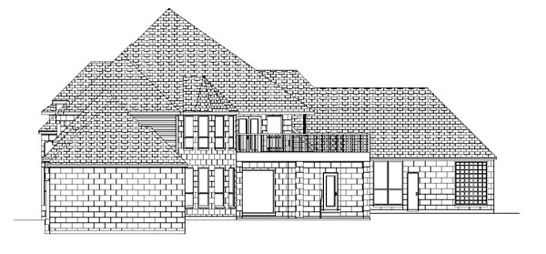European House Plan 87943 Rear Elevation