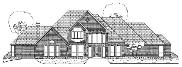European House Plan 87944 with 4 Beds, 6 Baths, 3 Car Garage Elevation