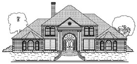 Colonial , European House Plan 87945 with 6 Beds, 6 Baths, 4 Car Garage Elevation
