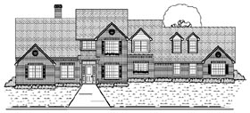 Traditional House Plan 87946 with 6 Beds, 5 Baths, 3 Car Garage Elevation