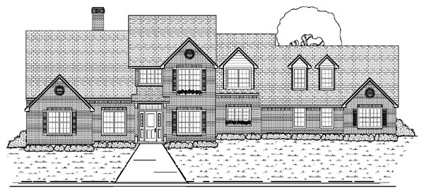 Traditional House Plan 87946 Elevation
