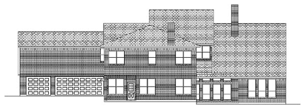 Traditional House Plan 87946 Rear Elevation