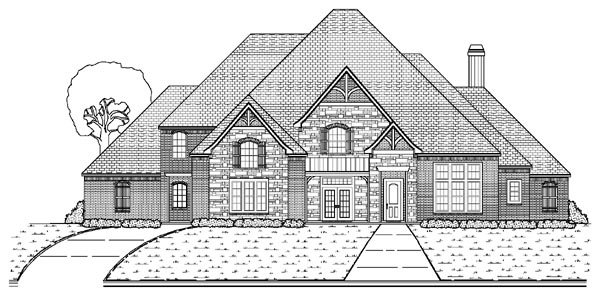 European House Plan 87947 Elevation