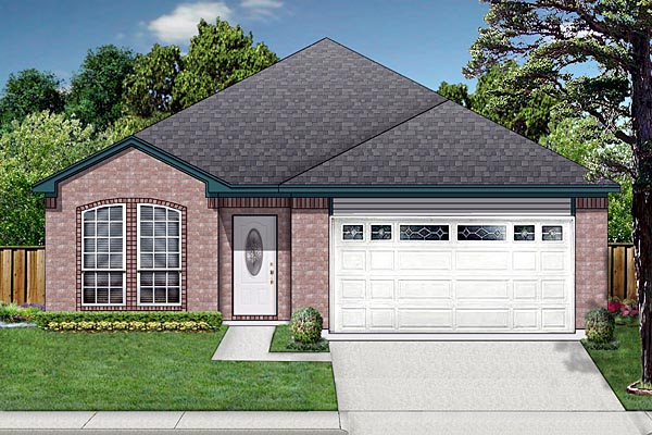 Traditional House Plan 87948 with 3 Beds, 2 Baths, 2 Car Garage Elevation