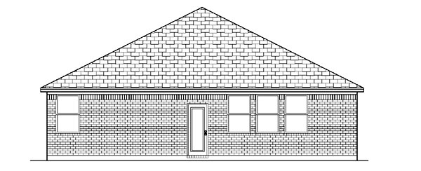 Traditional House Plan 87948 with 3 Beds, 2 Baths, 2 Car Garage Rear Elevation
