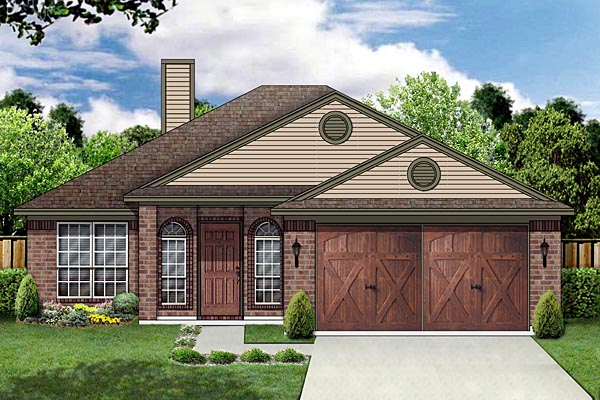 Traditional House Plan 87949 with 4 Beds, 2 Baths, 2 Car Garage Elevation