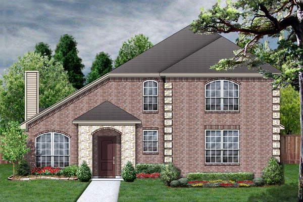 House Plan 87952 | European Style Plan with 2574 Sq Ft, 4 Bedrooms, 3 Bathrooms, 2 Car Garage Elevation