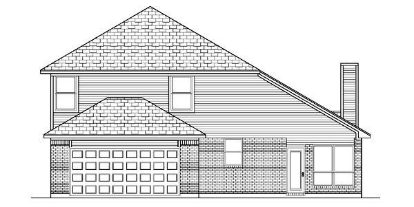 House Plan 87952 | European Style Plan with 2574 Sq Ft, 4 Bedrooms, 3 Bathrooms, 2 Car Garage Rear Elevation