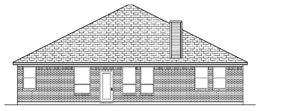 Traditional House Plan 87953 Rear Elevation