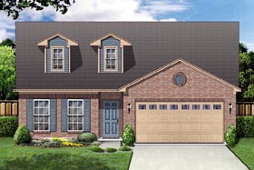 House Plan 87954 | Cape Cod Style Plan with 2303 Sq Ft, 3 Bedrooms, 2 Bathrooms, 2 Car Garage Elevation