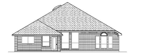Traditional House Plan 87955 Rear Elevation
