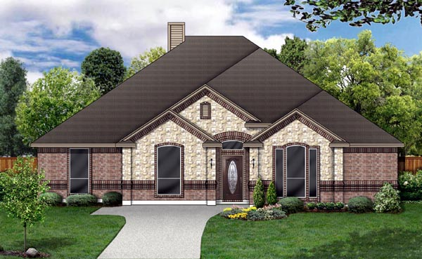 European House Plan 87956 Elevation