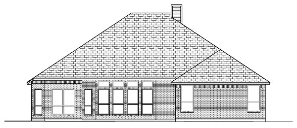 European House Plan 87956 Rear Elevation