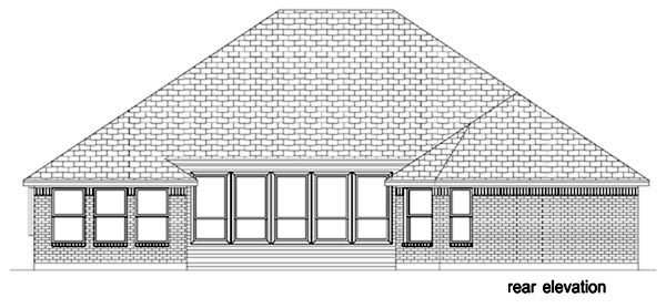 Traditional House Plan 87957 Rear Elevation