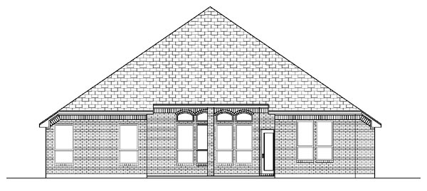 European House Plan 87958 Rear Elevation