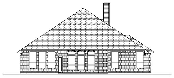 European House Plan 87959 Rear Elevation