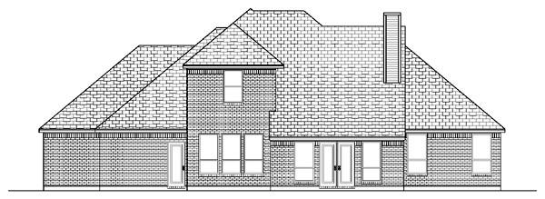 European House Plan 87960 Rear Elevation