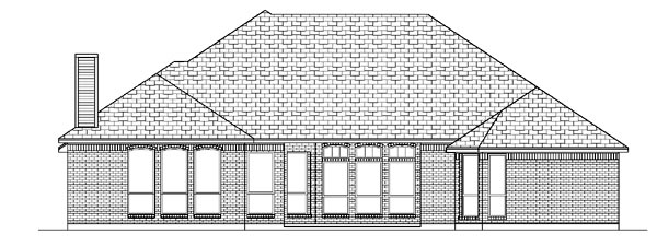 European House Plan 87963 Rear Elevation