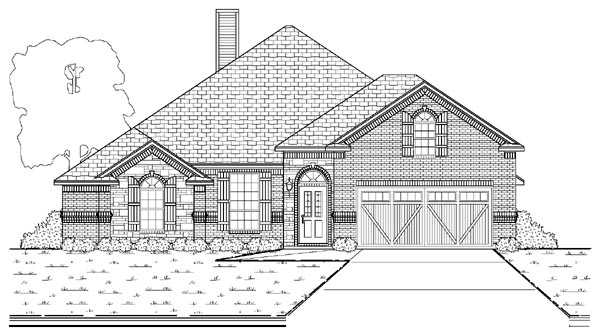 House Plan 87964 | European Style Plan with 2636 Sq Ft, 3 Bedrooms, 3 Bathrooms, 2 Car Garage Elevation