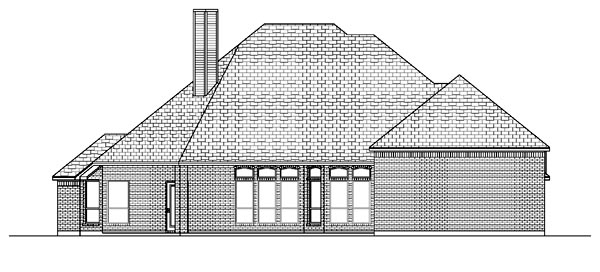 House Plan 87965 | European Style Plan with 2674 Sq Ft, 3 Bedrooms, 3 Bathrooms, 3 Car Garage Rear Elevation