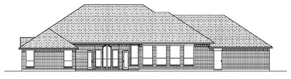 House Plan 87966 | European Style Plan with 2758 Sq Ft, 4 Bedrooms, 3 Bathrooms, 3 Car Garage Rear Elevation