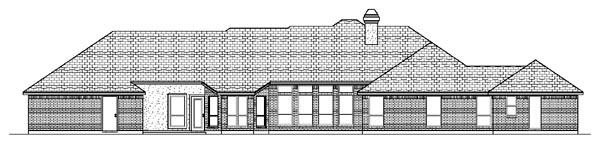 European House Plan 87967 Rear Elevation