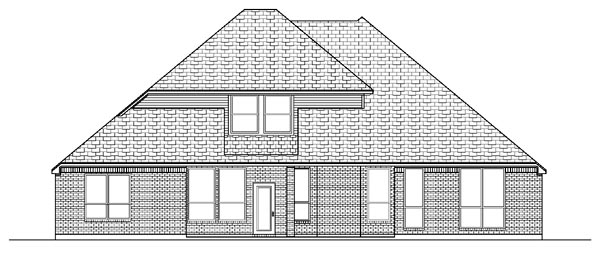 European House Plan 87969 Rear Elevation