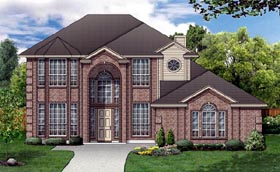European House Plan 87970 Elevation