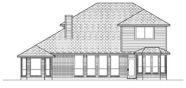 European House Plan 87970 Rear Elevation