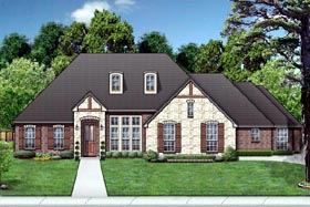 European House Plan 87972 Elevation