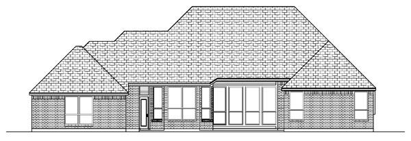 European House Plan 87972 Rear Elevation