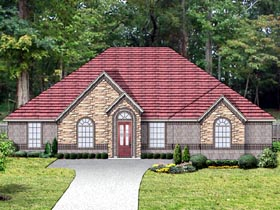 Traditional House Plan 87975 with 4 Beds, 3 Baths, 3 Car Garage Elevation