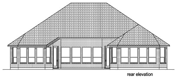 Traditional House Plan 87975 Rear Elevation