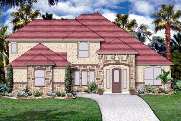 Florida Mediterranean House Plan 87976 Elevation