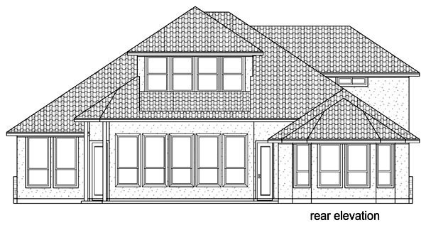 Florida Mediterranean House Plan 87976 Rear Elevation