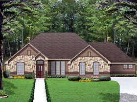 European Traditional House Plan 87978 Elevation